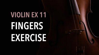 violin ex 11 finger exercise