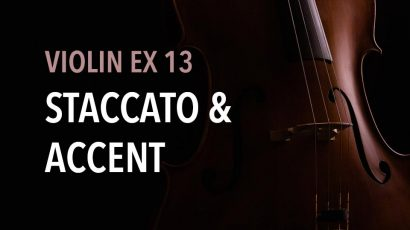 violin ex 13 staccato & accent