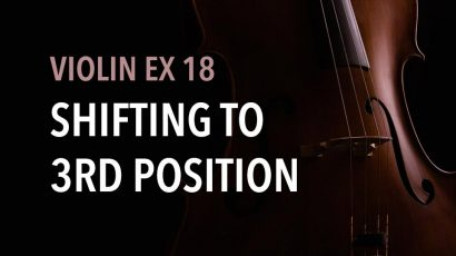 violin ex shifting to 3rd position