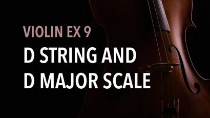 violin ex 9 D string and D major scale