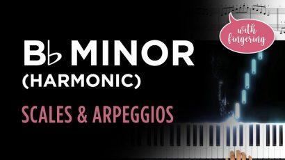 Bb Harmonic Minor Scale & Arpeggio