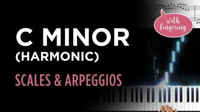 C Harmonic Minor Scale & Arpeggio