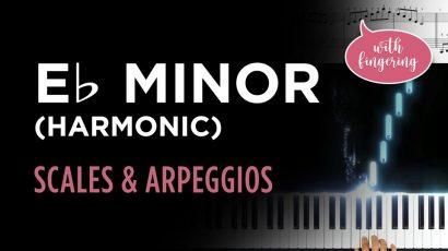 Eb Harmonic Minor Scale & Arpeggio