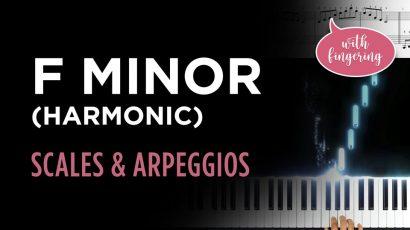 F Harmonic Minor Scale & Arpeggio